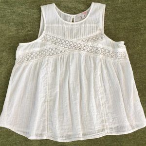 GB Sleeveless Top With Lace - NWOT